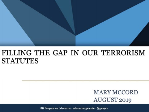 Filling the Gap in Our Terrorism Statutes