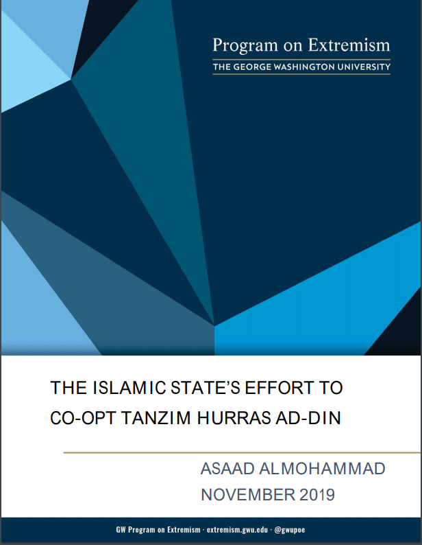 The Islamic State's Efforts to Co-Opt Tanzim Hurras Ad-Din